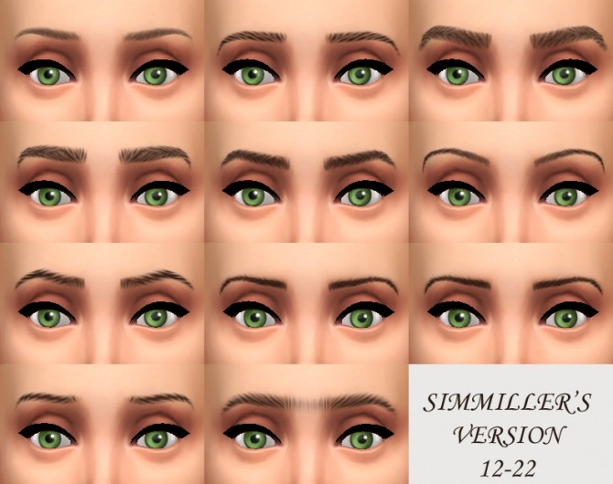 Sims 4 Default Replacement Eyebrows by Simmiller at Mod The Sims