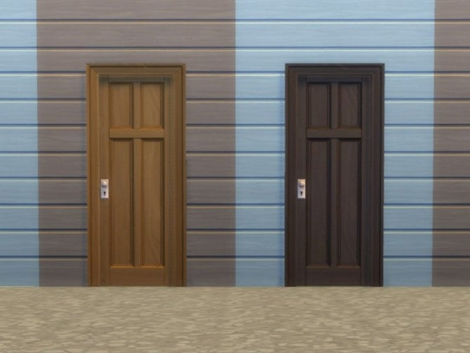 Sims 4 Two Tile Four Panel Door by plasticbox at Mod The Sims