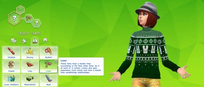 Sims 4 Loser Trait by Thedarkgod at Mod The Sims