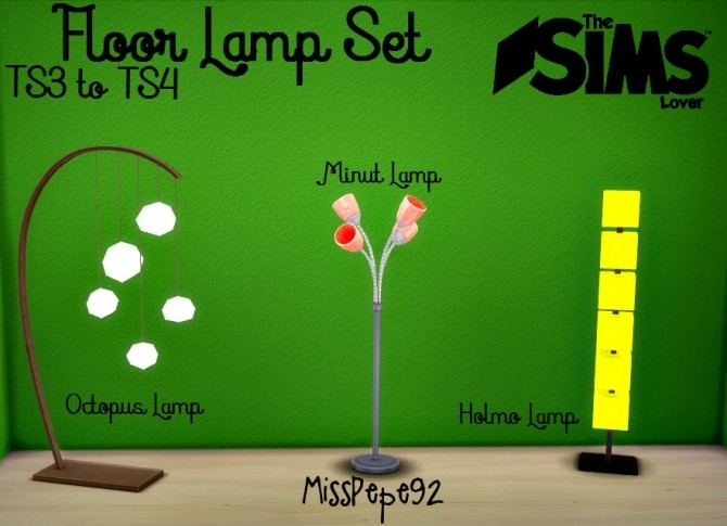 Floor Lamp Set by MissPepe92 at The Sims Lover image 592 670x485 Sims 4 Updates