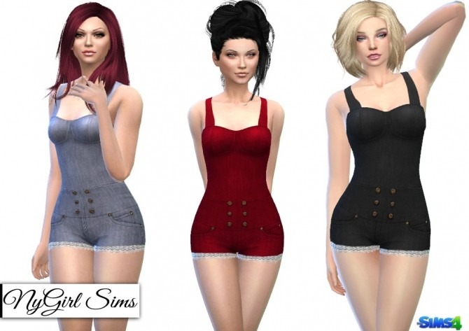 Lace Leg Denim Jumpsuit at NyGirl Sims image 6020 670x473 Sims 4 Updates
