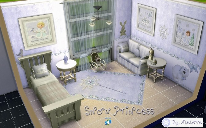 SNOW PRINCESS deco set at Alelore Sims Blog image 611 670x416 Sims 4 Updates