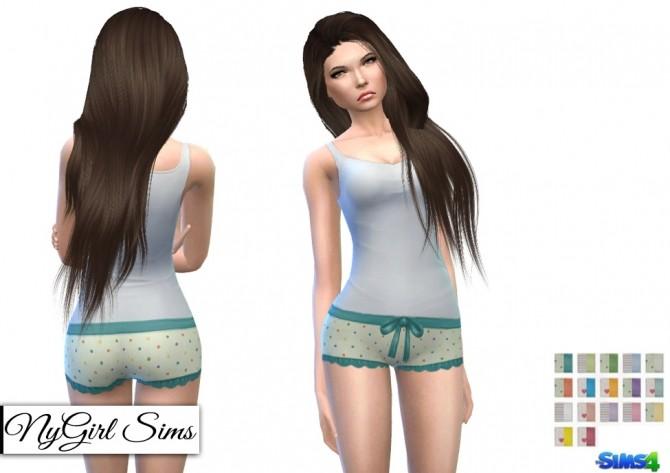 Printed Ruffle and Bow Pajama Shorts at NyGirl Sims image 6122 670x473 Sims 4 Updates