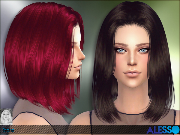 how to cut a bob haircut video hair by alesso at tsr 187 sims 4 updates 6124 | 6124