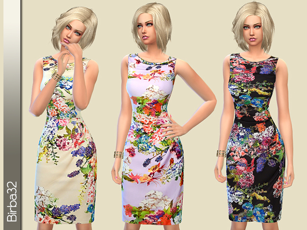 Summer floral dress by Birba32 at TSR image 616 Sims 4 Updates