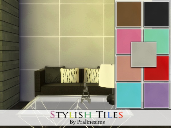 Sims 4 Stylish Tiles by Pralinesims at TSR