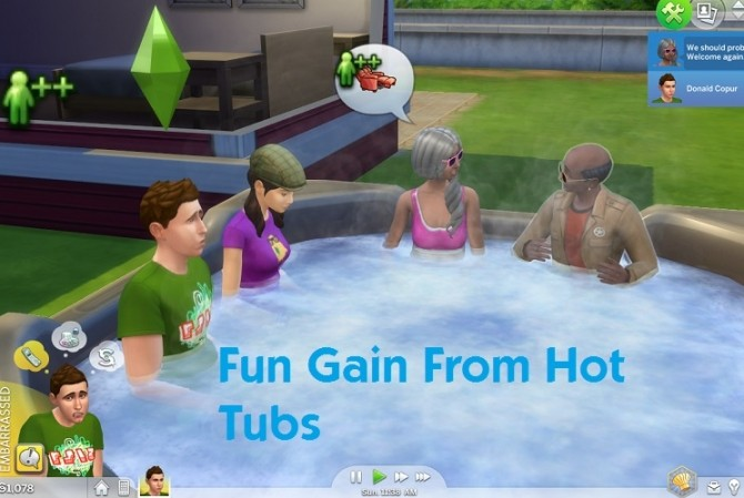Sims 4 Fun Gain From Hot Tubs by simmythesim at Mod The Sims