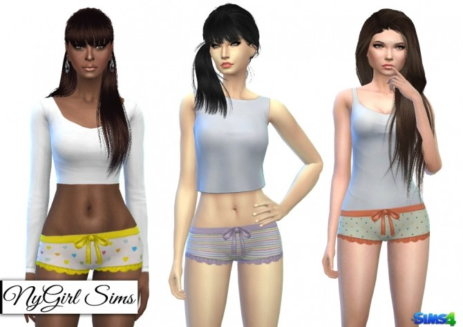 Printed Ruffle and Bow Pajama Shorts at NyGirl Sims image 6222 670x473 Sims 4 Updates
