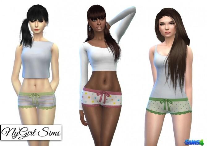 Printed Ruffle and Bow Pajama Shorts at NyGirl Sims image 6420 670x473 Sims 4 Updates