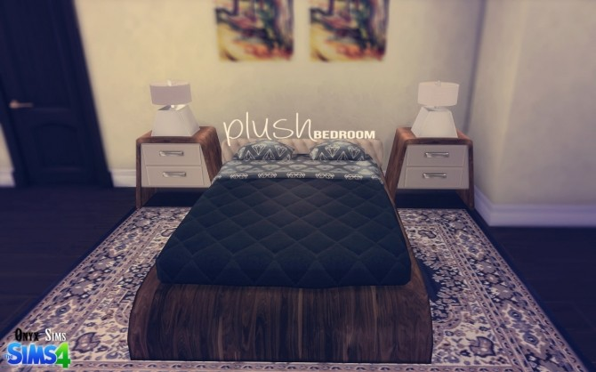 Plush Bedroom Set By Kiara Rawks At Onyx Sims Sims 4 Updates