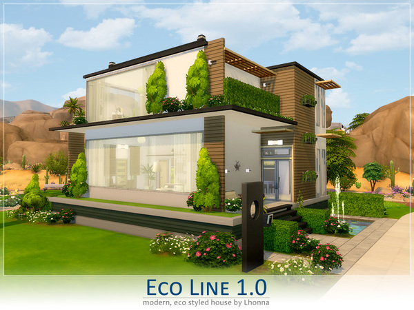 Eco Line 1.0 house by Lhonna at TSR image 670 Sims 4 Updates