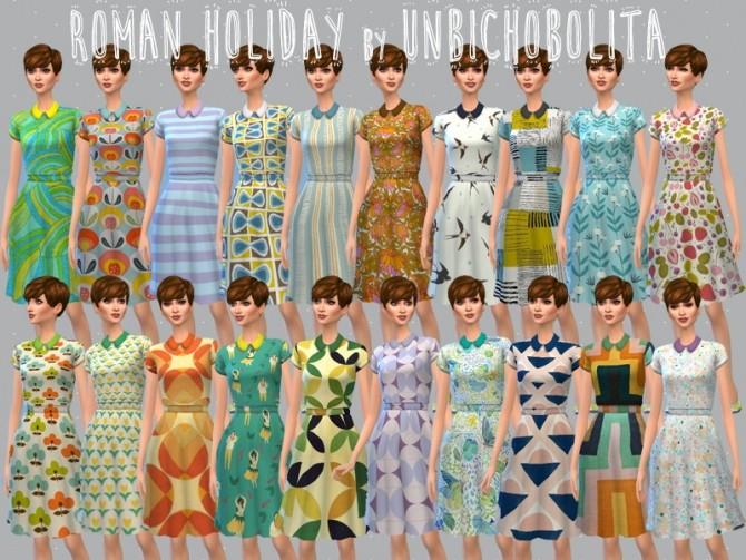 Roman holiday dresses at Un bichobolita image 6716 670x503 Sims 4 Updates