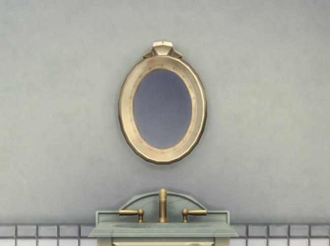 Sims 4 Chaz MacFreeling Simple Oval Mirror by plasticbox at Mod The Sims