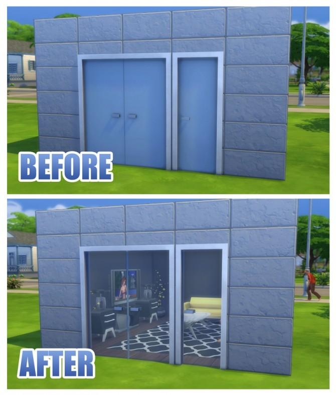 Sliding Doors The Sims 4: Fix For Simple Glass Double Door And Stark Front Door By