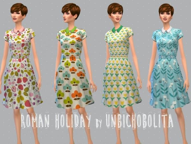 Roman holiday dresses at Un bichobolita image 6914 670x503 Sims 4 Updates