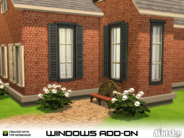 Sims 4 EA Window Add on by mutske at TSR