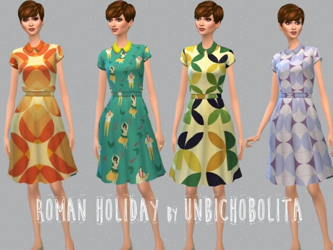Roman holiday dresses at Un bichobolita image 7015 670x503 Sims 4 Updates