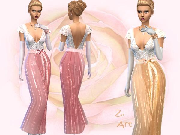 Sims 4 High Shine dress by Zuckerschnute20 at TSR
