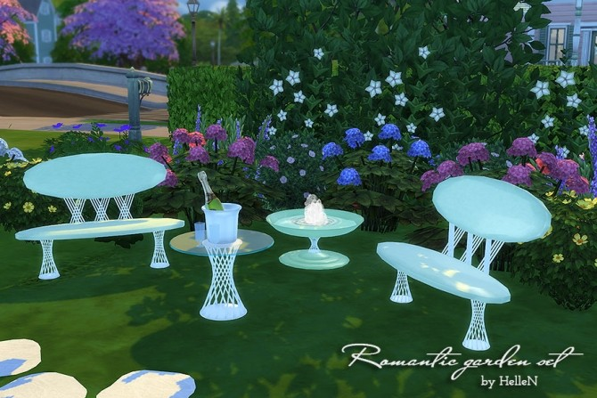 Romantic Garden Set By Hellen At Sims Creativ Sims 4 Updates