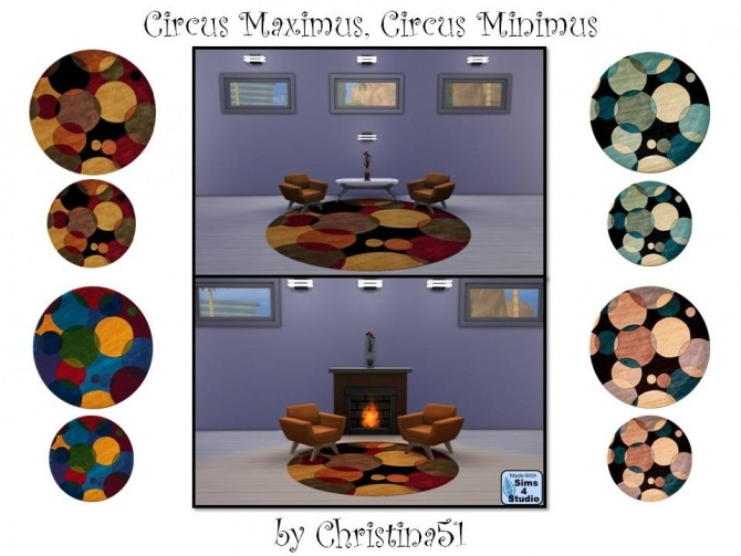 Sims 4 Circus Maximus/Circus Minimus Rug Set by Christina51 at Mod The Sims