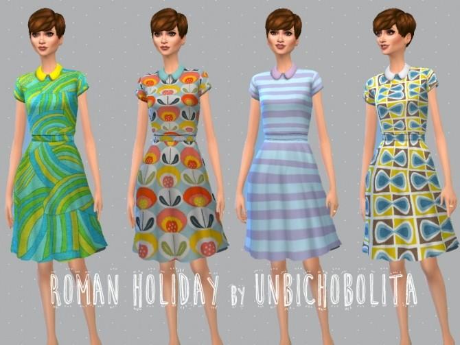 Roman holiday dresses at Un bichobolita image 7119 670x503 Sims 4 Updates