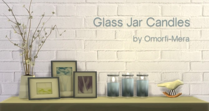 Glass Jar Candles at Omorfi Mera image 724 670x358 Sims 4 Updates