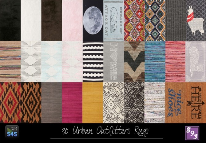 Sims 4 50 2x1 Rugs at Shenice93