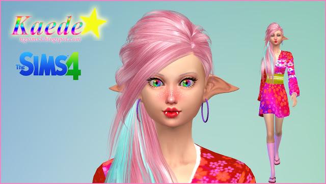 Sims 4 Kaede TS4 Model at NG Sims3