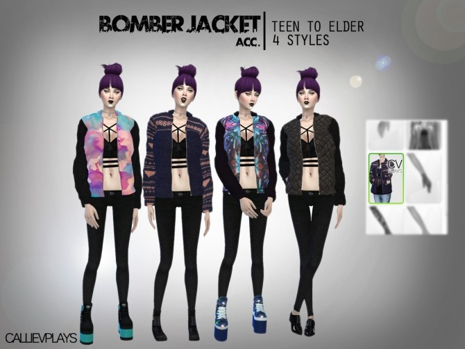Sims 4 Bomber jacket at CallieV Plays