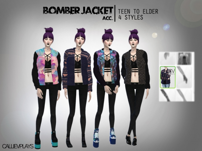 Bomber Jacket At Calliev Plays 187 Sims 4 Updates