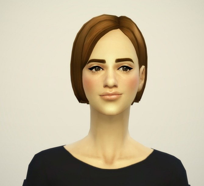Sims 4 Bangs Side Swept Edit V2 at Rusty Nail