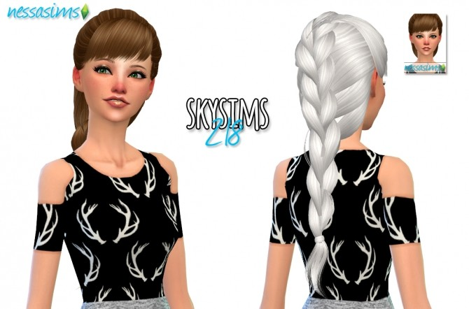 Hair Dump #5 at Nessa Sims image 749 670x442 Sims 4 Updates