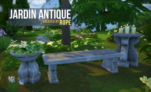 Sims 4 Jardin Antique by Rope at Simsontherope