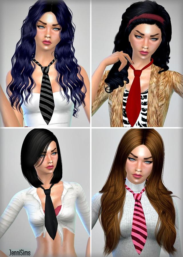 Sims 4 Accessory Tie Female at Jenni Sims