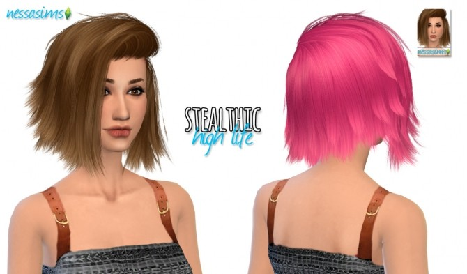 Sims 4 Stealthic High Life Hair Retexture at Nessa Sims