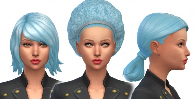 Sims 4 Baby Blue Pastel Non Default Hair Colour by kellyhb5 at Mod The Sims