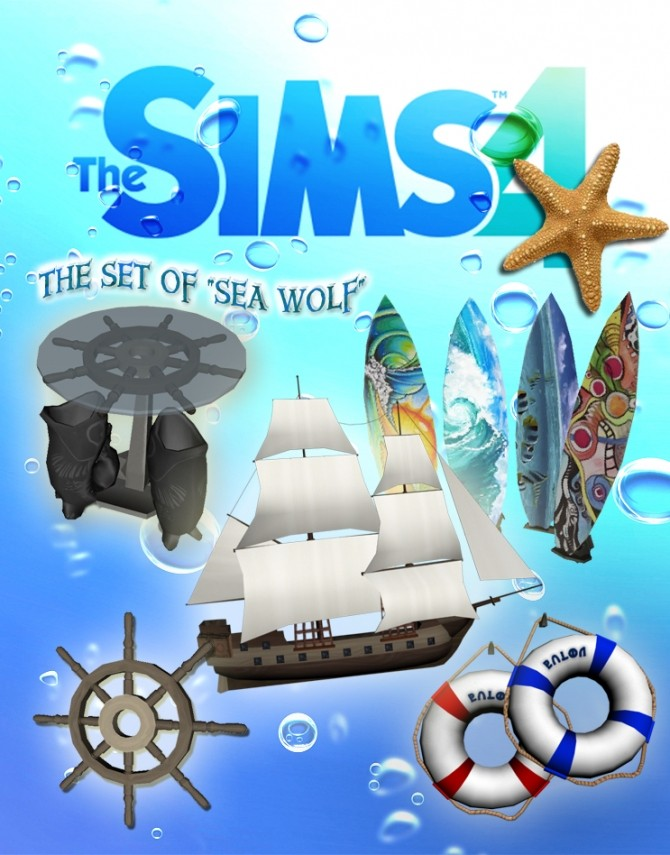Sims 4 The marine set of Sea Wolf by Stanislav at Mod The Sims