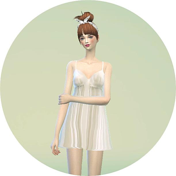Sims 4 Night mini dress at Marigold