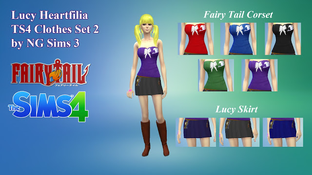 Lucy Heartfilia Clothes Set 2 at NG Sims3 image 8012 Sims 4 Updates