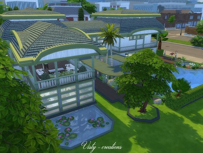 Sims 4 Tropical wind house by Vista at Visty Creations