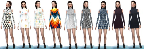 Sims 4 Shoulder cutout dress at Belle's Simblr