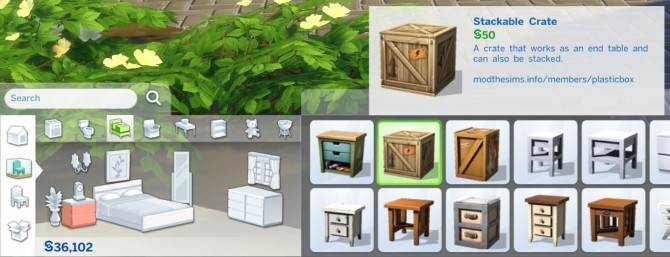 Stackable Crate by plasticbox at Mod The Sims image 8122 670x257 Sims 4 Updates