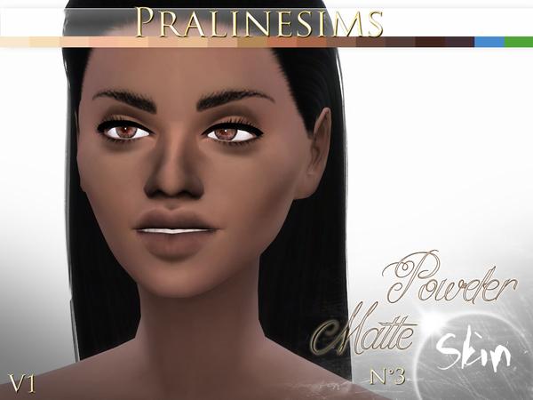 Sims 4 Powder Matte Skin (4 Versions) by Pralinesims at TSR