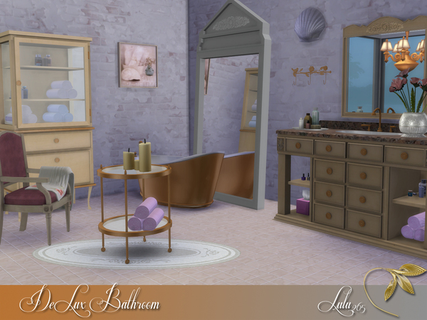 DeLux Bathroom by Lulu265 at TSR image 8132 Sims 4 Updates