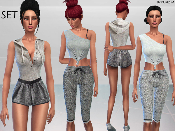 Sims 4 Warm Up Outfits by Puresim at TSR