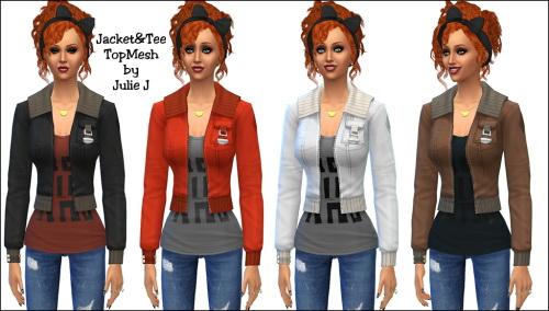 Sims 4 Jacket & Tee at Julietoon – Julie J