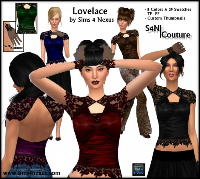 Sims 4 LoveLace S4N Couture at Sims 4 Nexus