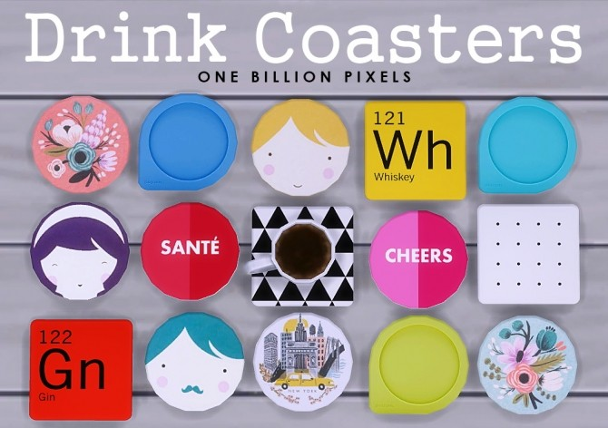 Coaster Drinks by NewOne at One Billion Pixels image 8311 670x472 Sims 4 Updates