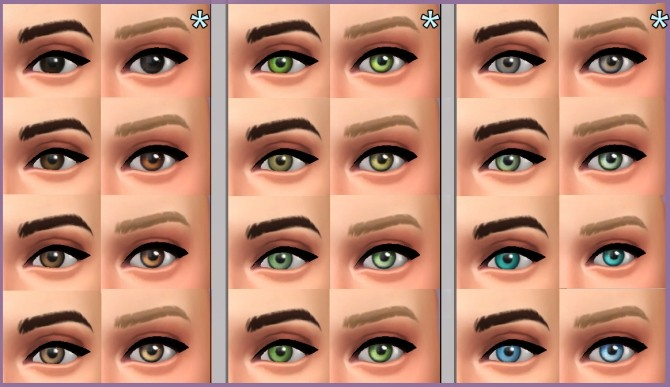 Maxis Eyes Overhaul By Kellyhb5 At Mod The Sims 187 Sims 4