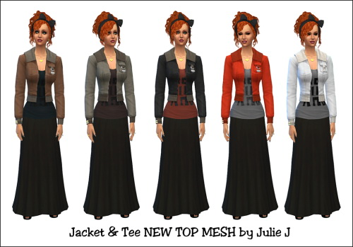 Sims 4 Jacket & Tee at Julietoon – Julie J